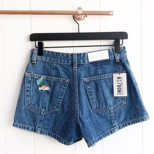 NWT Re/Done Levi's The Venice Pintuck Denim Shorts